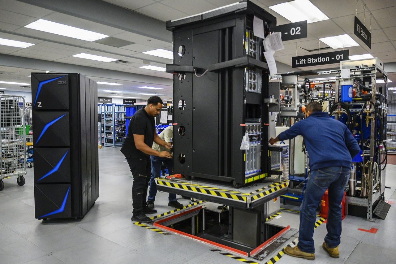 ibm mainframe factory floor