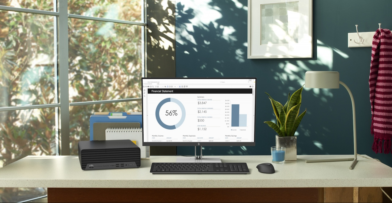 hp elitedesk 805 g6 small form factor pc workspace 1
